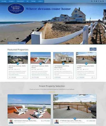 Real Estate Website Design, WordPress Website Design and Development Maine