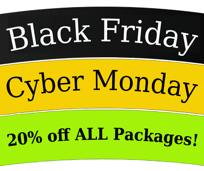BLACK FRIDAY 20% OFF ALL WEB DESIGN PACKAGES