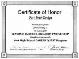 Certificate-of-honor
