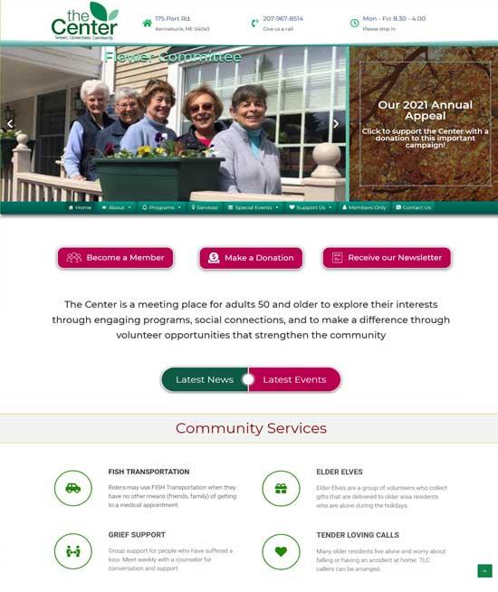 Senior Center Kennebunk dot org