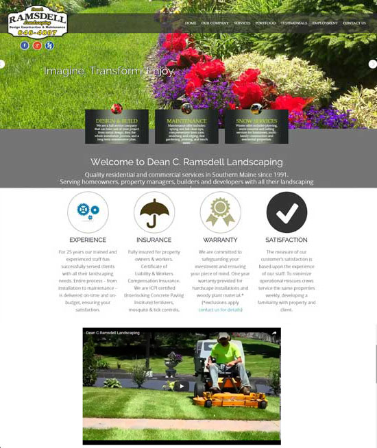 ramsdell landscaping Maine